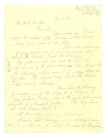 First page of Letter from Mrs. A. Pursell to W. E. B. Du Bois