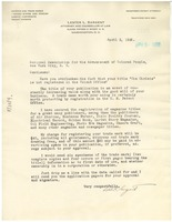 First page of Letter from Lester L. Sargent to N.A.A.C.P.