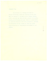 First page of Note on transcript of Mordecai W. Johnson's speech