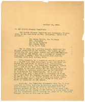 First page of Letter from W. E. B. Du Bois to Crisis Finance Committee