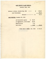 First page of Daily report of cash receipts