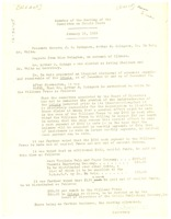 First page of Minutes of the meeting of the Committee on Crisis Debts