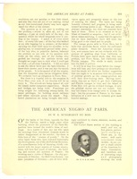 First page of The  American Negro at Paris