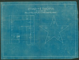 First page of Star of Ethiopia blueprint