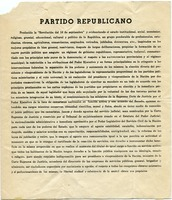 First page of Partido Republicano