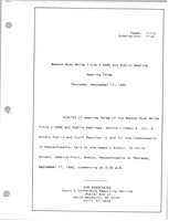 First page of Boston Ryan White title I CARE act public hearing Hearing three
