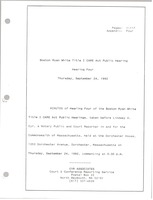 First page of Boston Ryan White title I CARE act public hearing Hearing four