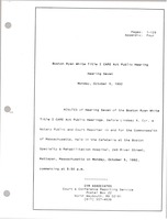 First page of Boston Ryan White title I CARE act public hearing Hearing seven
