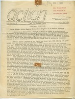 First page of Action Publication of the CPS Conference on Social Action vol. 2, no. 4