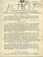 First page of Action Publication of the CPS Conference on Social Action vol. 2, no. 11