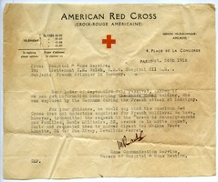 First page of Letter from American Red Cross Hospital and Home Service to Lloyd E. Walsh