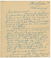 First page of Letter from Clinton T. Brann to Rhea Oppenheimer