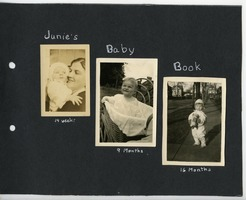 First page of Junie's baby book