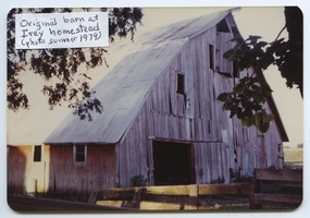 First page of Barn at the Irey homestead