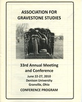 First page of The  Association for Gravestone Studies 33rd annual meeting and conference :             Conference program June 22-27, 2010, Denison University, Granville, Ohio