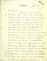 First page of Letter from Frank Lyman to Howard A. Dalton
