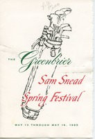 First page of Greenbrier Sam Snead Spring Festival Program