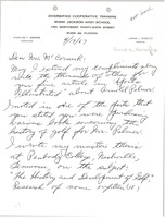 First page of Letter from Charles T. Jenkins to Mark H. McCormack