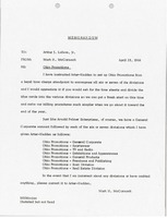 First page of Memorandum from Mark H. McCormack to Arthur J. Lafave