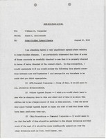 First page of Memorandum from Mark H. McCormack to William H. Carpenter