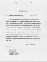First page of Memorandum to England and Jackie Stewart file