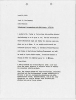 First page of Memorandum from Judy A. Chilcote to Mark H. McCormack