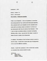 First page of Memorandum from Mark H. McCormack to Arthur J. Lafave Jr.