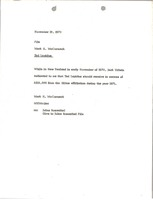 First page of Memorandum from Mark H. McCormack concerning Ted Lapidus
