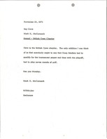 First page of Memorandum from Mark H. McCormack to Ray Cave