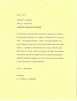 First page of Memorandum from Mark H. McCormack to Michael J. Narracott