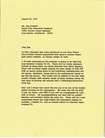 First page of Letter from Mark H. McCormack to Jim Crooker