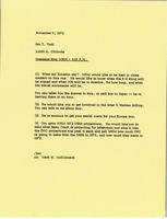 First page of Memorandum from Judy A. Chilcote to Ian Todd