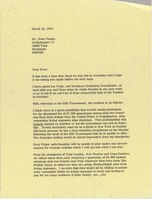 First page of Letter from Mark H. McCormack to Sven Tumba