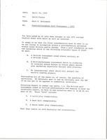 First page of Memorandum from Mark H. McCormack to David Foster