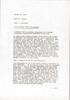 First page of Memorandum from Mark H. McCormack to David R. Foster