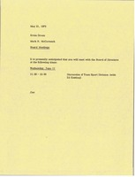 First page of Memorandum from Mark H. McCormack to Ernie Green