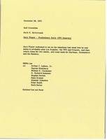 First page of Memorandum from Mark H. McCormack to golf committee