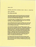 First page of Memorandum from Mark H. McCormack to Phil Pilley, Barry Frank, Jay Michaels,             Arthur J. Lafave and Howard Katz
