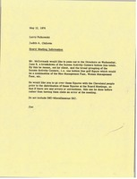 First page of Memorandum from Judy A. Chilcote to Larry Pelkowski