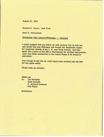 First page of Memorandum from Mark H. McCormack to Richard E. Moore