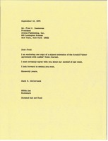First page of Letter from Mark H. McCormack to Fred C. Danneman
