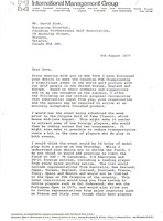First page of Letter from Mark H. McCormack to David Zink