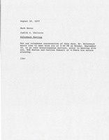 First page of Memorandum from Judy A. Chilcote to Barb Kernc
