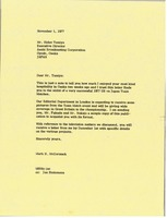 First page of Letter from Mark H. McCormack to Hideo Tamiya