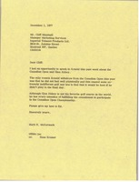 First page of Letter from Mark H. McCormack to Cliff Minshull