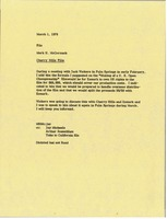 First page of Memorandum from Mark H. McCormack to Cherry Hills film file
