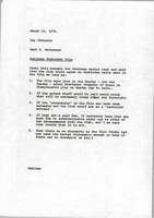 First page of Memorandum from Mark H. McCormack to Jay Michaels