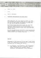 First page of Memorandum from Mark H. McCormack to Wimbledon merchandising and trade tent file