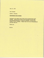 First page of Memorandum from Judy A. Chilcote to Eric Drossart