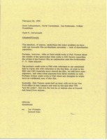 First page of Memorandum from Mark H. McCormack to Dave DeBusschere, Martin Carmichael, Jan Steinmann,             and Arthur Rosenblum